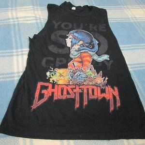 YOU'RE SO CREEPY GHOSTOWN CUT OFF TANK TOP SMALL